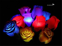 Wholesale Many Colors PVC Rose Shaped LED Light Rose Flower Night Light Romantic Love Light Color Randomly