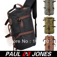 Wholesale Retail PJ Korean Men s Canvas Travel Bag Tote Shoulders Bag Backpack GZ621