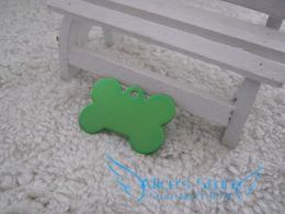 Free Shipping 50pcs lot Creative cute bone Dog Tags Aluminum Customized Pet ID Ball Chains D504