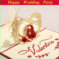Wholesale 3D Laser cut Gift amp Greeting Card With Lover amp Heart for Valentine Day Sweet Loves Gift