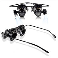 Wholesale Eye Glasses X Magnifier Glass Loupe LED Light Watch Repair