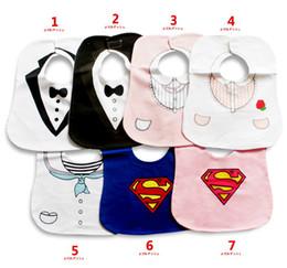 Wholesale Cheapest Waterproof Baby Bibs Babywear Layers Children s Bibs Newborn Saliva Towel Pinafore Superman Toddler Burp Cloth UN3