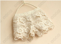 Wholesale Beautiful Lace Girl Shorts Good Quality Lining Pure Cotton Children s Lace Shorts Kids Short Pants Hot Pants QZ497