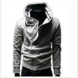 Wholesale Fashion Hoodies Soild Color Sweatshirt Cotton Stand Collar Long Sleeve Korean Style Front Zipper Handsome Men s Color Sweatshirts
