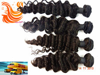 Wholesale Queen Products Mix Natural Color A Brazilian Deep Wave Hair Extensions Unprocessed Virgin Human Hair Weave Weft DW017