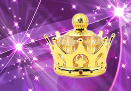 Wholesale Imperial crown Model Perfume Bottle Crystal seat K9 crystal exquisite perfume bottle