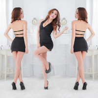 Wholesale Sexy Lingerie Sexy tempt club uniform bar uniform backless Hang a neck Lingeries Women Sexy Underwear TS142