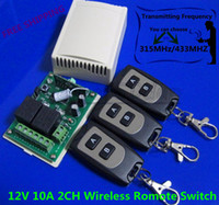 Wholesale DC12V A CH RF Transmitter Power Receiver Wireless Romote on off Control Switch System MHZ MHZ