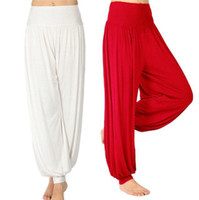 Women Cotton Pants S5Q Women Lady Harem Yoga Cotton Comfy Long Pants Belly Dance Boho Wide Trousers AAABOF