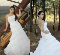 2014 New Vestidos De Novia Strapless Mermaid Wedding Dresses...
