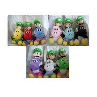 Wholesale Anime toy Hot sale Riding Yoshi quot Super Mario Bros mario Luigi Plush Doll Retail