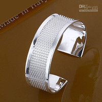 Wholesale Promotion B048 fashion jewelry sterling silver cuff bracelet bangle designs jewellery
