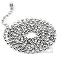 Chains Yes Chains Wholesale - 100pcs Free Shipping 2.4mm 24inch Stainless Steel Ball Beads Necklace Chain Stainless Steel Ball Cha