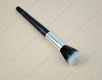 Wholesale Fedex New cheap Black single Makeup Cosmetic Fiber Foundation Stipple Powder Brushes