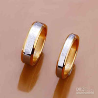 Wholesale Sterling Silver Jewelry Sets k Gold plated Ring Fover Love Silver Rings Couple Rings S119