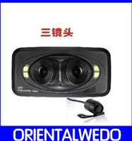 Wholesale 360 DEGREE panoramic View Angle LENS HD P Car DVR With G sensor and motion Detection