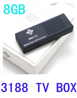 Wholesale Quad Core Mini PC Android4 Tronsmart MK908 RK3188 Smart TV Box GB RAM GB ROM With Bluetooth P HD Media Player