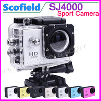 Wholesale HOT Waterproof Sport DV Camera SJ4000 HD DV Novatek P fps MegaPixels H Inch Outdoor Home Security HD DV CAR DVR