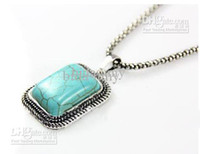 Wholesale Natural Turquoise jewelry set items promotional discount jewellery nke f90