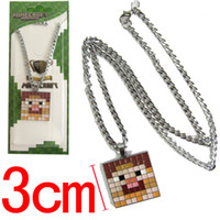 Wholesale Anime Game Minecraft Matel Necklace Pendant ANPD394