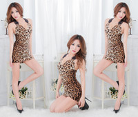 Wholesale New style Sexy Underwear Nightclub temptation Lingerie leopard print uniform Sexy Lingeries TS146