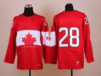 Ice Hockey Men Full Hot 2014 Olympic 28 Giroux Winter Hockey Jerseys Red with Gold Leafs Jerseys Super Bowl Cheap Players Jerseys Lastest