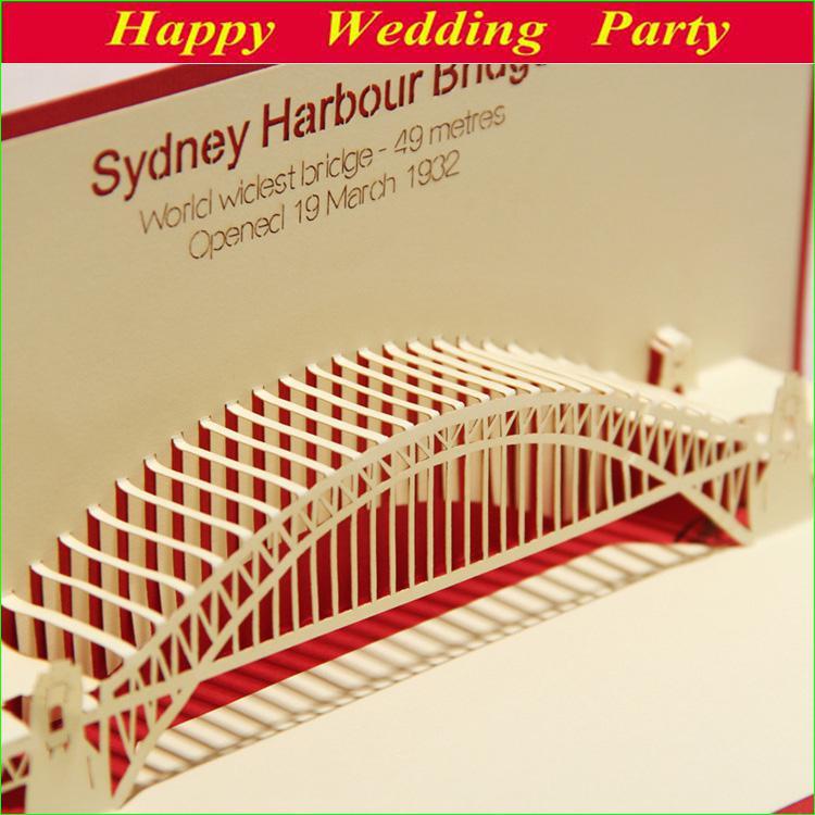 D birthday card sydney harbour bridge kirigami origami
