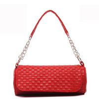 Women quilted handbags - Fashion leisure handbag candy colored chain Quilted shoulder portable diagonal weave a small bag