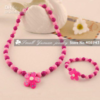 Wholesale Sets Top baby products Flowers Candy colored Lovely children kids jewelry sets N