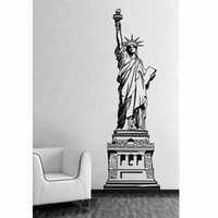 Wholesale New Wall Stickers Art Statue of Liberty PVC Material Matt Surface Water Oil Color Lasting Reusable Black Y4085A