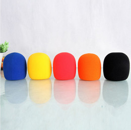Red Blue Yellow Orange Black Multi-color Choice Microphone Foam Cover for Condenser MIC Shield, 5pcs lot
