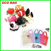 Wholesale Best price ECO cute Animal design Folding Shopping Tote Reusable Bag bags cartoon foldable bags