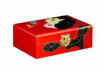 Wholesale With mirror wooden jewelry accessories storage box chinese style jewelry box