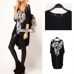 Wholesale shirt New Hot Sell Fashion Women Skull Dovetail Rock Long Sleeved Comfy Stylish Chiffon Gauze Splice Women Wf