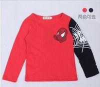 Wholesale Factory Price Spring Children Long Sleeve T Shirt Cartoon Spiderman Boy Tshirts Kids Tshirt Baby Topwear Clothes QZ512