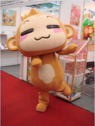 Wholesale Big Rich Carefree to play monkey cartoon Mascot Costume Fancy Dress R00030 adult one size custommade