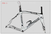 Wholesale 2014 White Pinarello Dogma Road Bike Frame K Carbon Fibre Bicycle Frames Stable Pro Bike Frames Headset Bottom Bracket Colors PD9