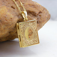 Wholesale 60020665A New Arriveal Classic K Gold Plated fashion Muslim Allah books pendant Freeshipping