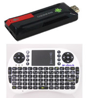 Wholesale MK809IV RK3188 quad core Cortex A9 Mini pc Android TV Stick G G External wifi antenna AC Keyboard Mouse
