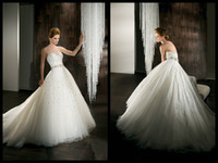 Ball Gown Reference Images Sweetheart Classic Sweetheart Strapless Demetrios 2014 Wedding Bridal Dresses Ball Gown Sleeveless Ruched White Tulle Cheap Wedding Gowns With Beading