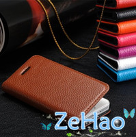 For Apple iPhone Genuine Leather Wholesale Simple Design Genuine Leather Case For Apple iPhone 5 5S Real Leather Wallet Cell Phone Cover