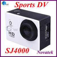 Wholesale 12MP HD camera Sports DV SJ4000 NTK96650 P fps H Inch HD wide angle lens G lens Outdoor Waterproof dv Camcorders