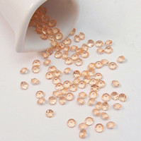 Wholesale mm Carat Peach Faux Acrylic Bead Diamond Confetti Table Scatter Wedding Favors Party Decoration
