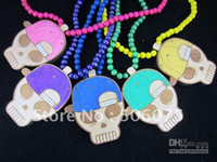 Chains Yes Chains Wholesale - Min Order $10 Free Shipping Mix Colors Good Wood NYC Wooden Hiphop Snapback Skull Hat Necklace