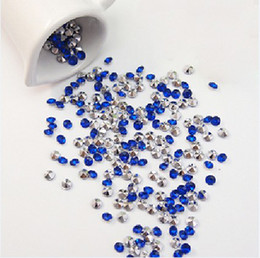 5000pcs 4.5mm (1 3 Carat) Dark Blue With Silver Plated Faux Acrylic Bead Diamond Confetti Table Scatter Wedding Favors Party Decor
