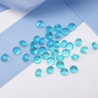 aqua diamonds shipping - High Quality mm Carat Aqua Blue Color Diamond Confetti Wedding Party Decoration