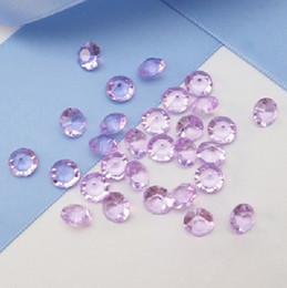 High Quality 6.5mm (1Carat) Lavender Color Diamond Confetti Wedding Party Decoration-- Free Shipping