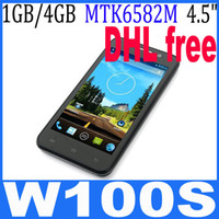 THL Android 1G THL W100S 4.5 Inch MTK6582m Quad core Smartphone IPS QHD Screen 1GB RAM+4GB ROM 12.6MP Camera Android4.2 3G GPS DHL free ship