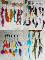 Wholesale feather products long feather hair clip Hair extension wedding feathers hair