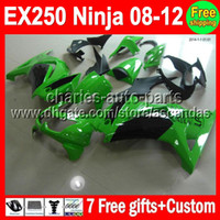 Wholesale green blk gifts Custom For Kawasaki Ninja EX250 Kit new green EX EX250R Fairings